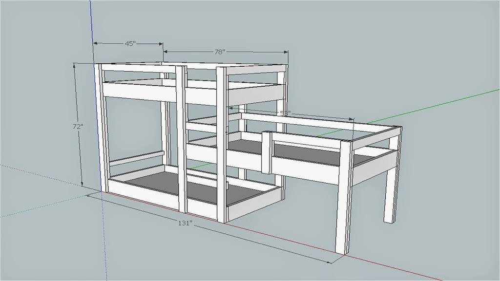 Triple Bunk Bed Build Merzke Custom Woodworking