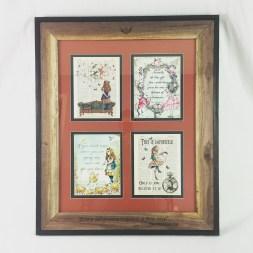 Custom matting and framing for Alice and Wonderland prints.