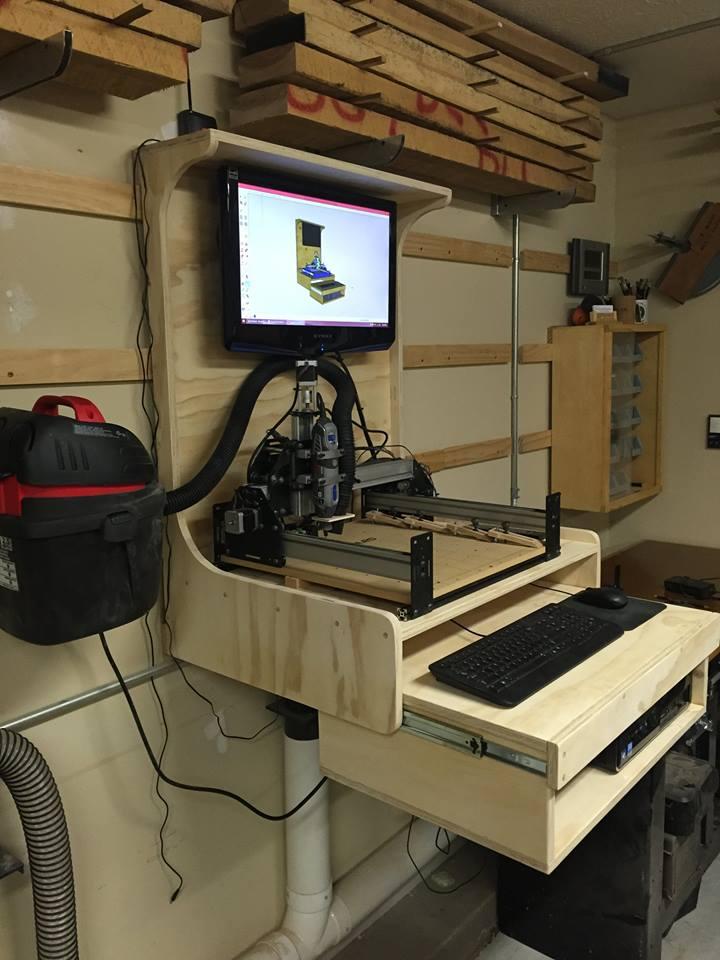 Computer Cnc Workstation Merzke Custom Woodworking