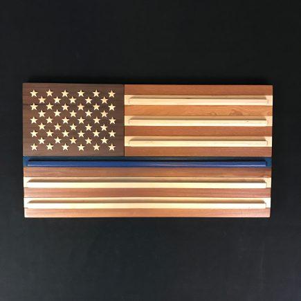 Thin Blue Line American Flag Coin Rack.
