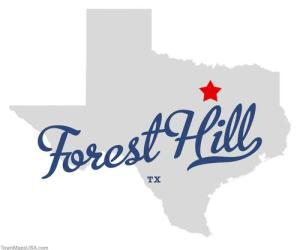 Air conditioning and heating repair in Forest Hill Town Map