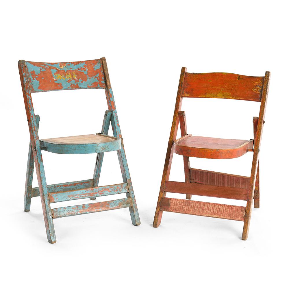 chaise pliante en bois patine mes decouvertes julien cohen