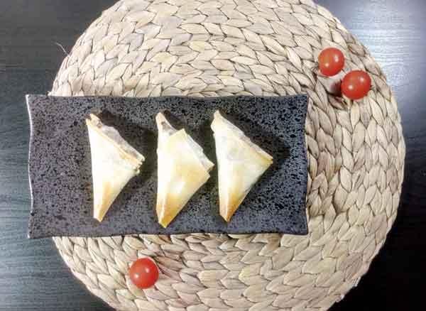 samoussa au boeuf sans friture avec cuisson au four
