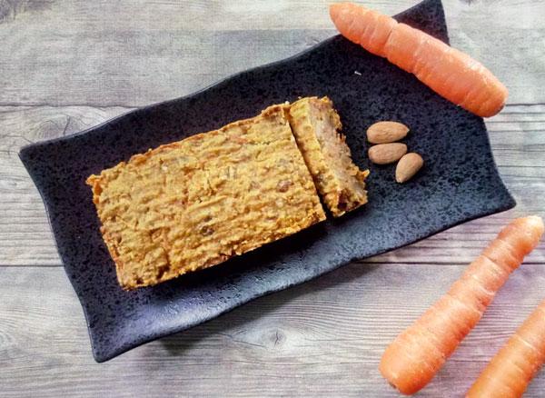 cake minceur allege en sucre a la carotte amande et noix