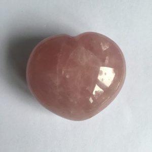 coeur quartz rose