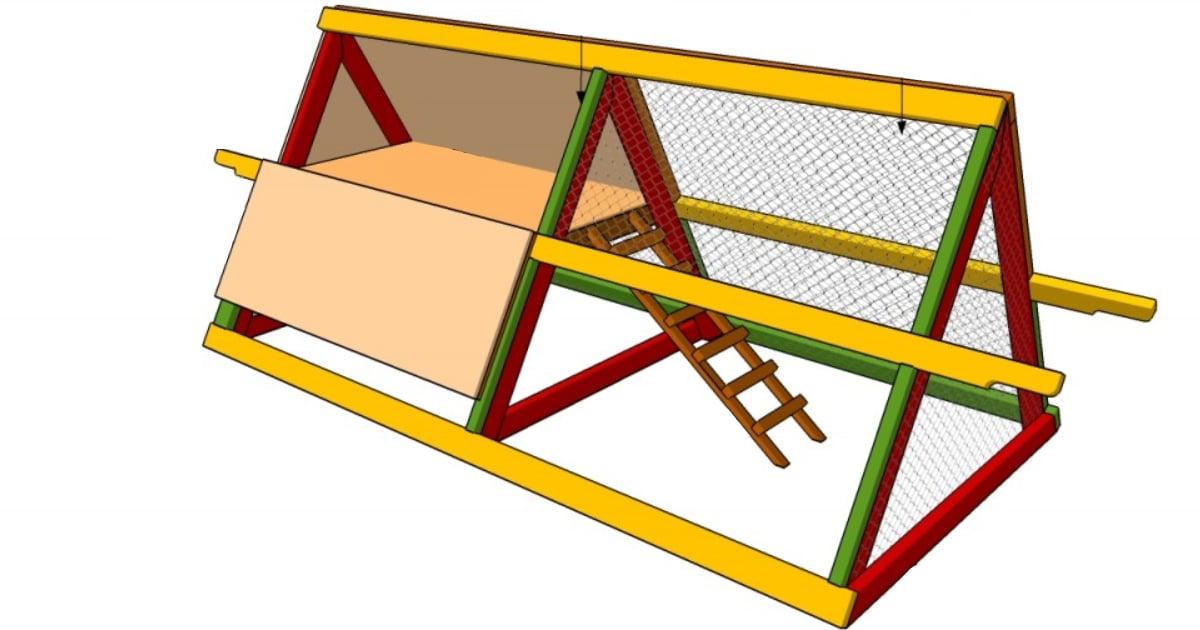 fabriquer un poulailler triangulaire