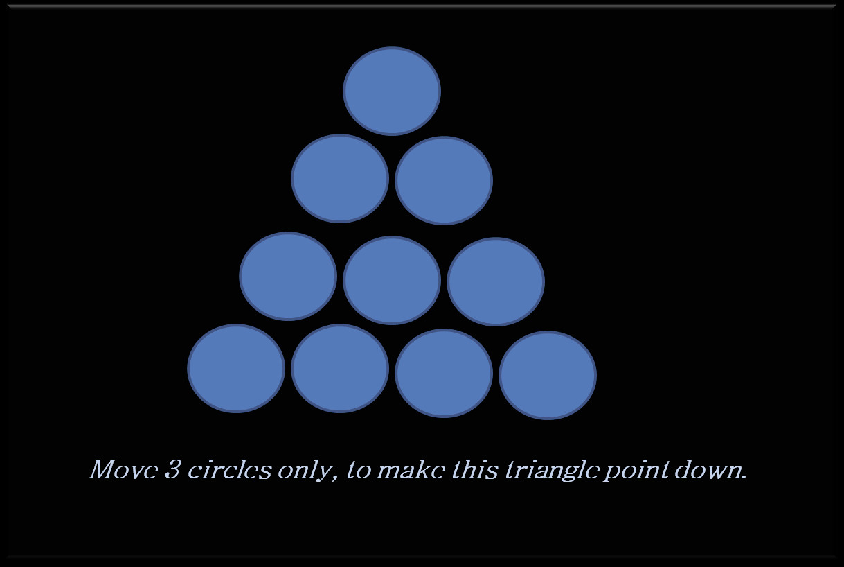 Can You Make This Triangle Point Down