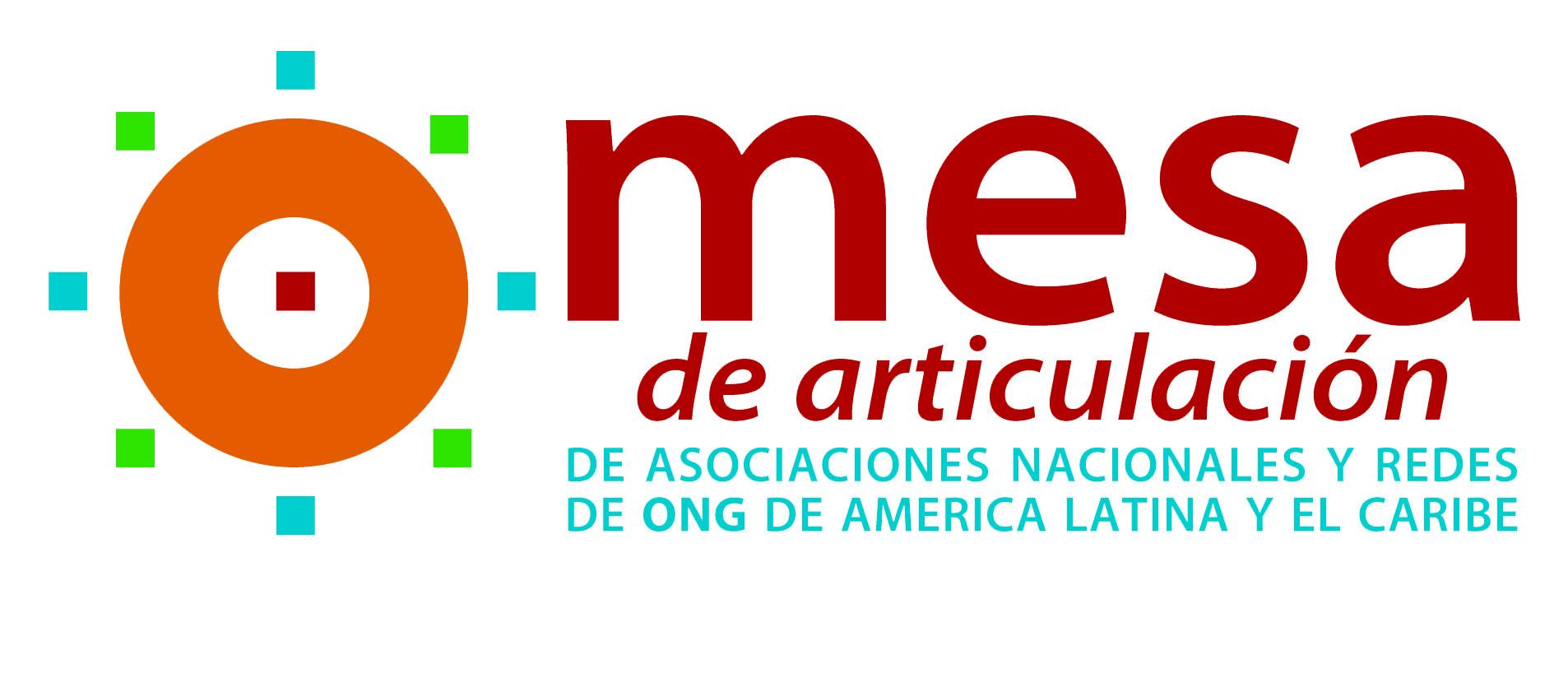 Resultado de imagem para Logo Mesa de Articulación de Asociaciones Nacionales y Redes de ONGs de América Latina y el Caribe