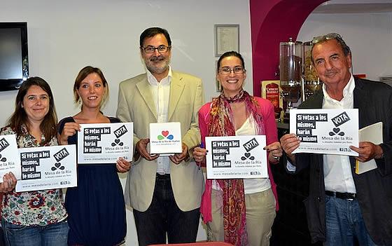 David Hammerstein en Huelva, dando su apoyo a la candidatura de la Mesa de la Ría