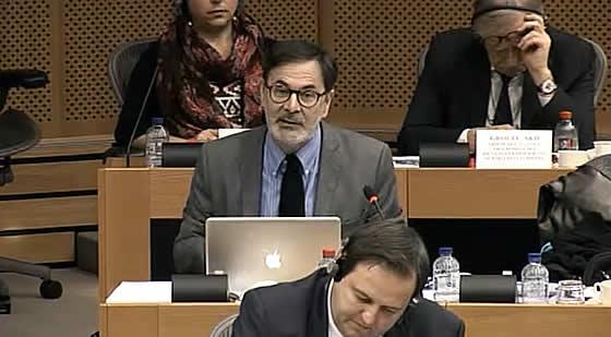 David Hammerstein en representación de Mesa de la Ría ante la Comisión en Bruselas