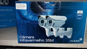 Camera IR PRO 35M, sensor 1/3 super digital, 800 linhas, lente 3,6MM, 36 LEDS