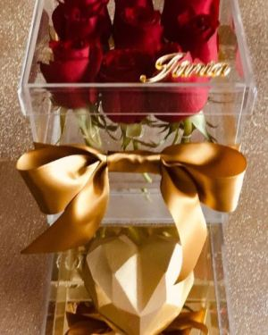 Box Flower Gold