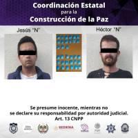 Detienen a dos con 31 dosis de cristal en Cuernavaca