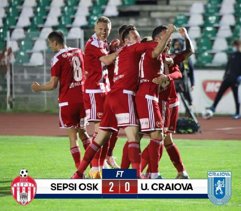 Fotbal - Liga I: Sepsi OSK Sfântu Gheorghe - Universitatea Craiova 2-0, în play-off