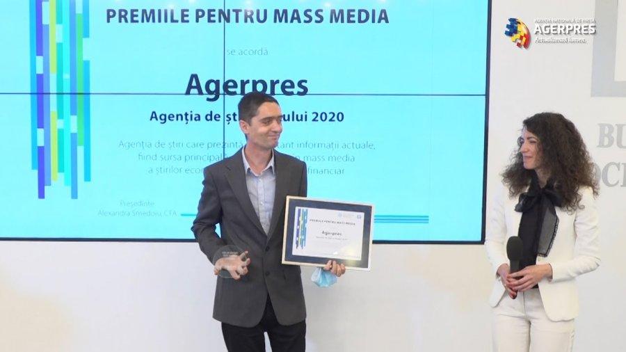 Agenţia Naţională de Presă AGERPRES, premiată de CFA România