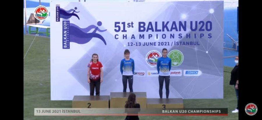 Medalie de bronz obținută de atleta Rut Cristina Vasile, la Campionatul Balcanic de U20, de la Istanbul
