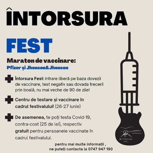 Maraton de vaccinare anti-COVID-19 la Întorsura Fest