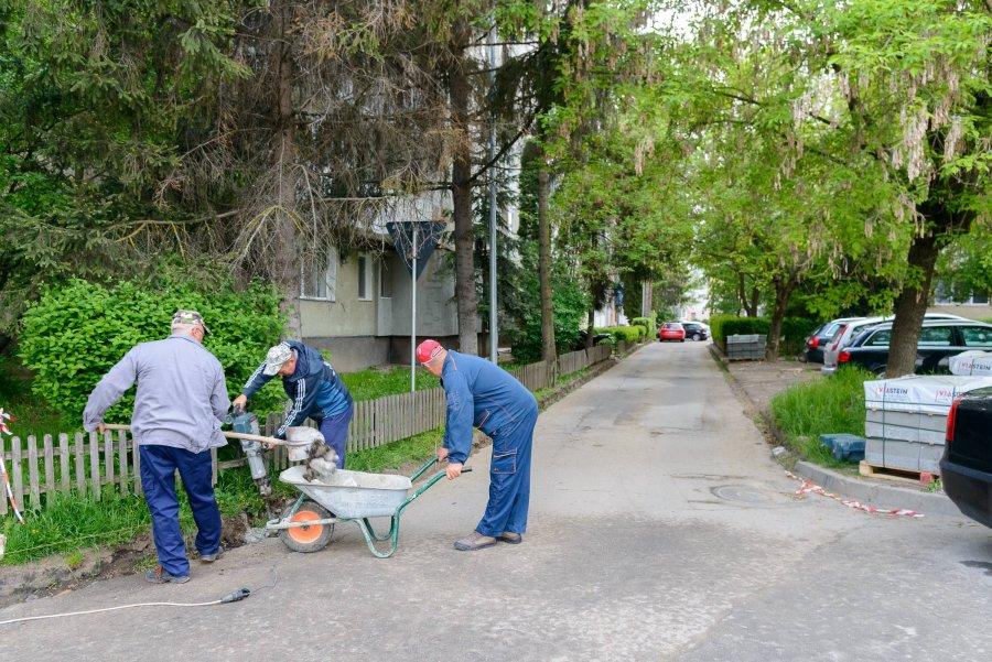 Lucrări mai mici sunt în desfășurare pe străzile din Sfântu Gheorghe