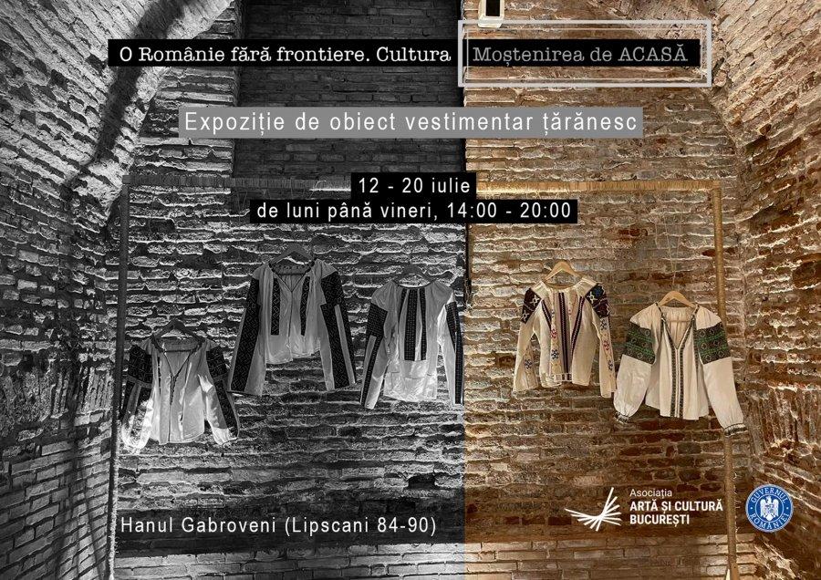 """Expoziție de obiect vestimentar țărănesc organizată în cadrul proiectului """"O Românie fără frontiere. Cultura - Moștenirea de ACASĂ"""""""