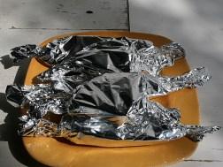 Patates douces aux épices indiennes en papillotes sur le grill - Préparation et Photos Marie-Sophie Digne