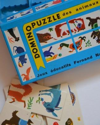 domino puzzle d'animaux aux dessins poétiques