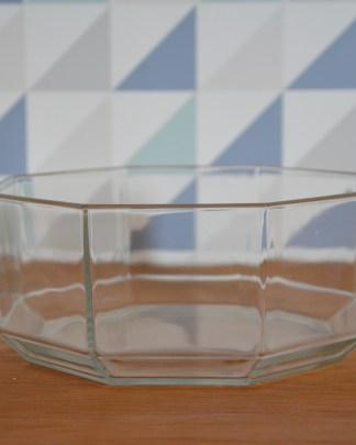 Saladier en verre octogonale de la marque arcoroc