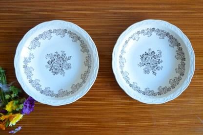 Lot de 2 assiettes creuses Digoin Sarreguemine collection Clovis
