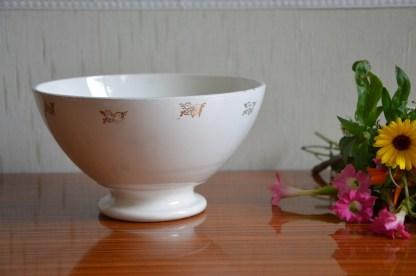 bol en porcelaine de la marque digoin et sarreguemine
