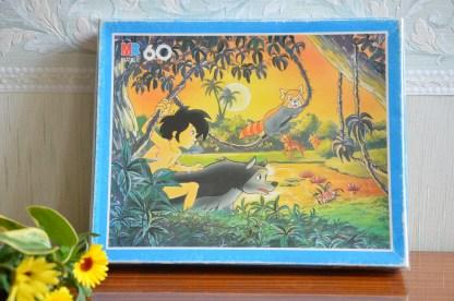 Puzzle de 60 pièces le livre de la jungle par MB daté de 1989