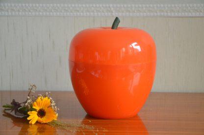 Pomme à glaçons orange en plastique