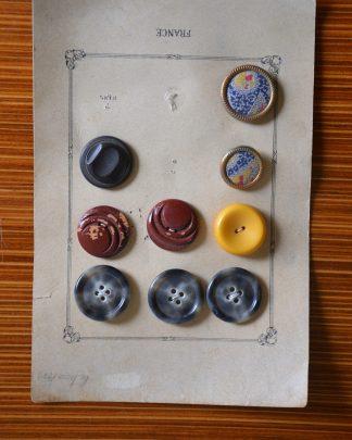 boutons-vintage-jaune-bleu-rouge-boutons-en-tissus