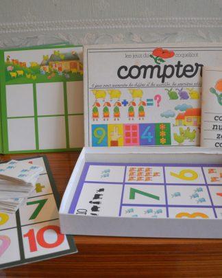 Les jeux du coquelicot,compter. 6 jeux pour apprendre les chiffres et les quantités, les premières addition et soustractions. Initiation Nathan 1981