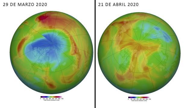El sorprendente agujero en el ozono del Ártico empieza a cerrarse gracias al calor