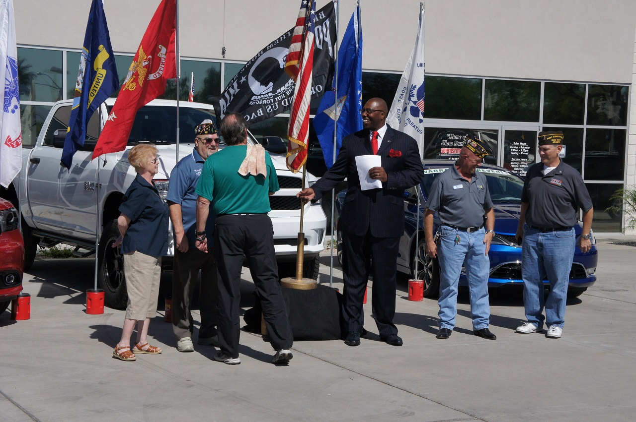 Nice Generous Donation From Superstition Springs Chrysler Jeep Dodge RAM For  Veteran Homelessness ⋆ Dode Morris Post 1760