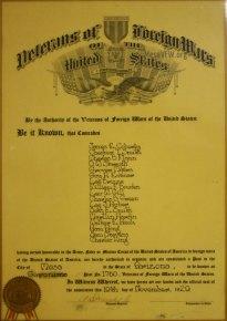 1929 VFW Charter Post 1760