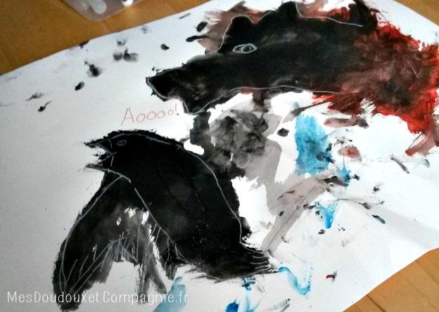 dessiner sur peinture