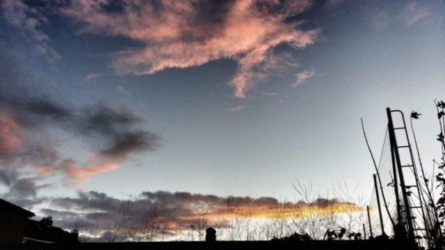 coucher de soleil automne fin novembre