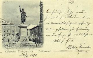 Budapest - Petőfi szobor - 1898-III-15
