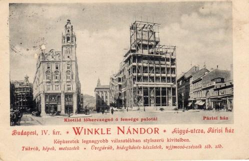 HU - Budapest - Klotild paloták (Winkle reklámlap) - 1900
