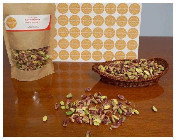 Aegina Pistachios Nuts Raw Unsalted Without Shell