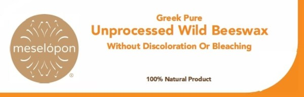Pure Natural Unrefined Wild Raw Beeswax Bar Free Of Discoloration & Bleaching, Label