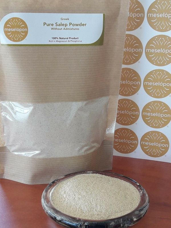 Sahlep, Salep Powder Pure Natural Unprocessed Without Admixtures From Orchis Mascula Roots, Front