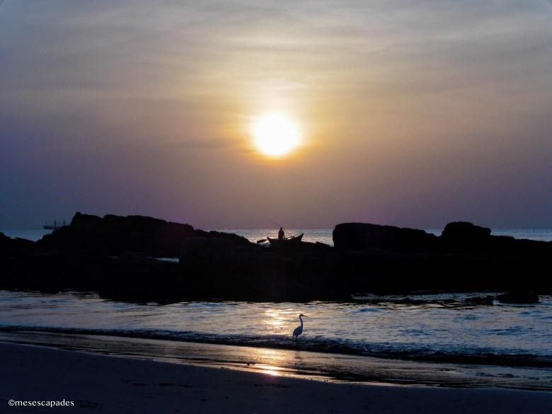 Lever de soleil sur les plages de Trincomalee