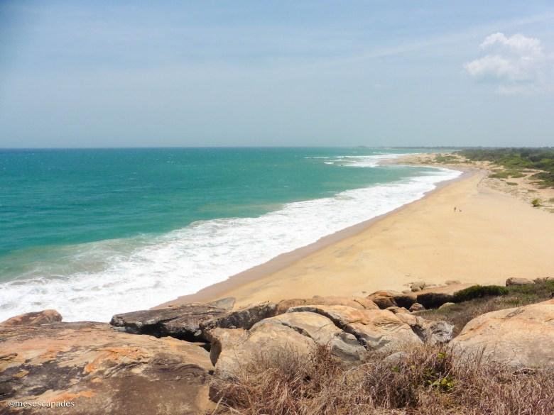 La baie d'Arugam depuis l'Elephant Rock