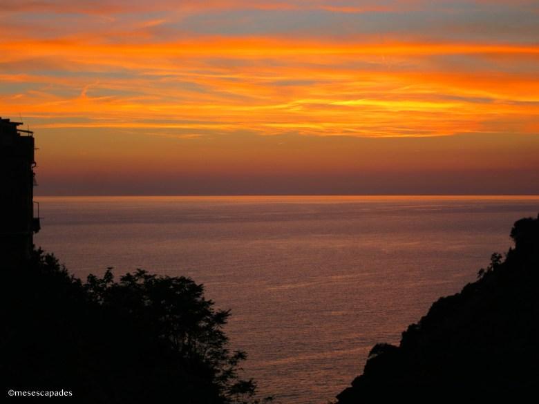 Coucher de soleil sublime à Corniglia