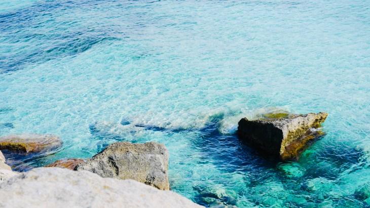 La Cala Azzurra de l'île de Favignana.