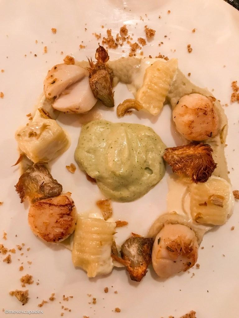 Coquilles St-Jacques, artichaut, gnocchis de pecorino - Lift, Orléans