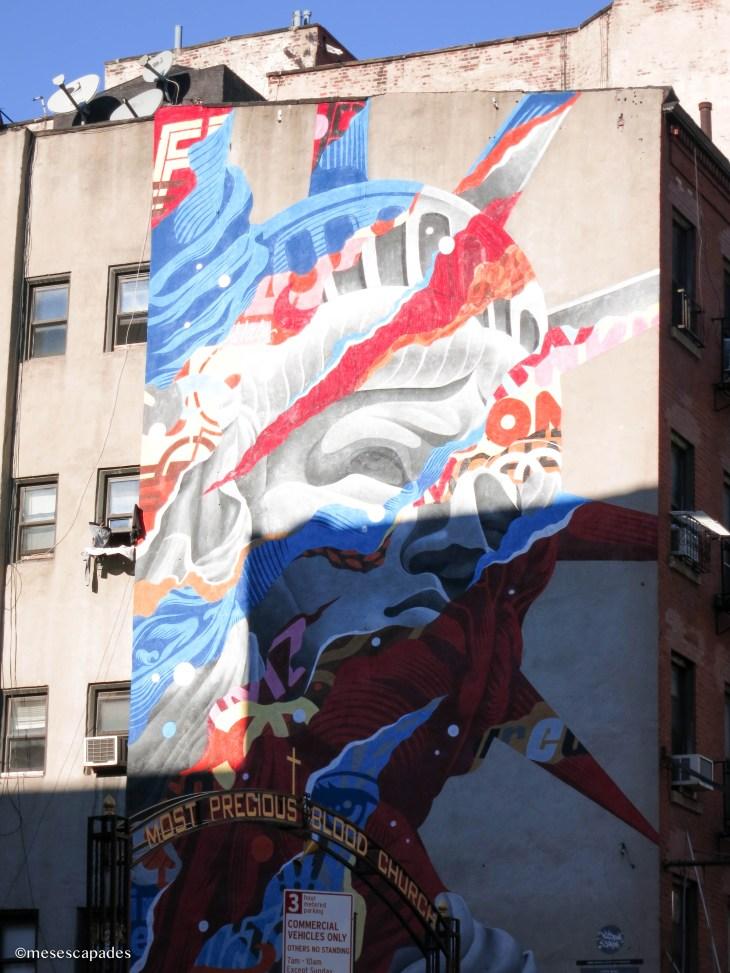 Street Art dans le quartier de Little Italy ou China Town
