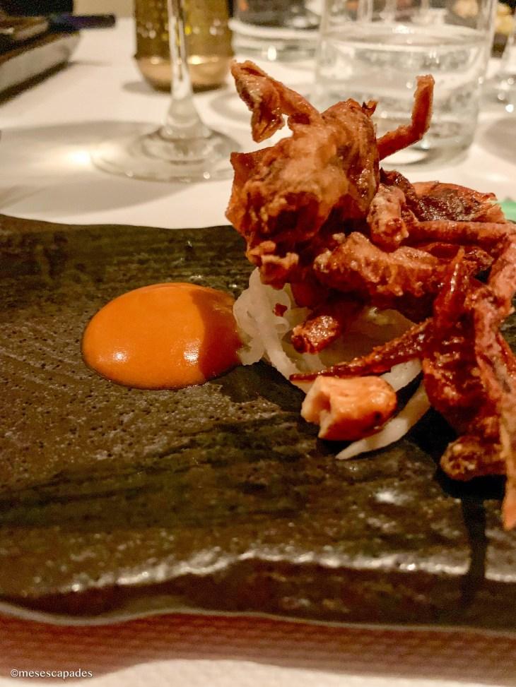 Crabe frit - Le Lièvre Gourmand, Orléans