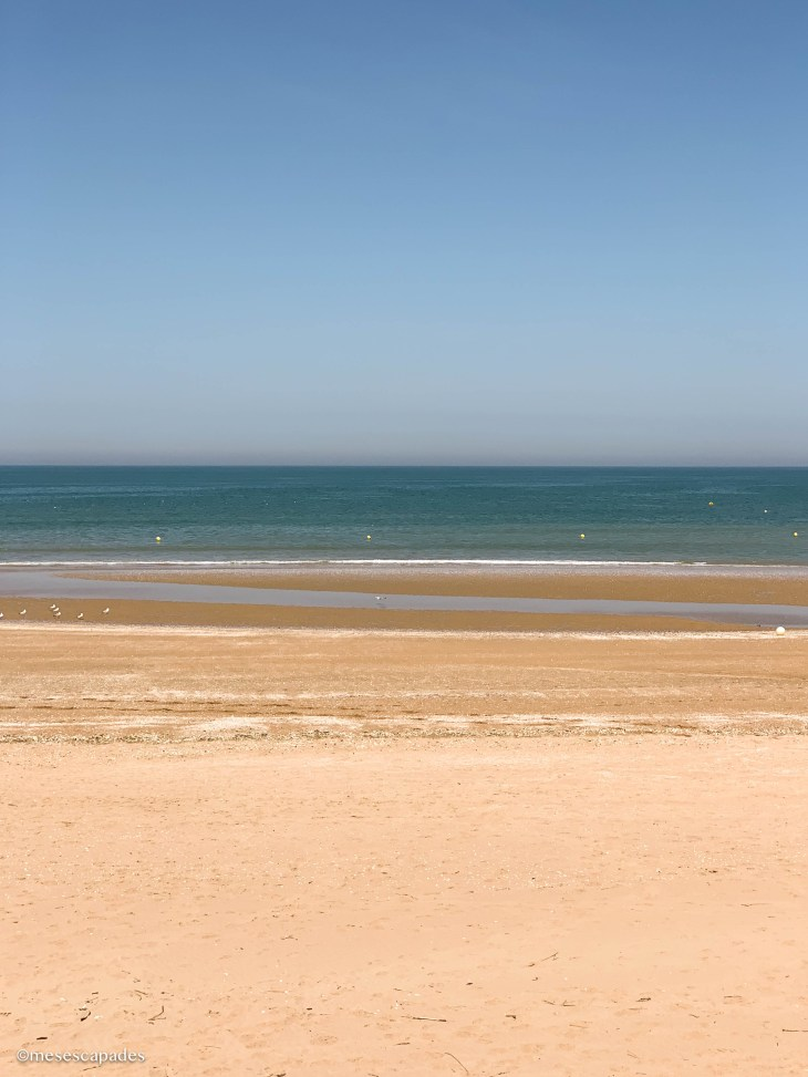 La plage de Cabourg et son teint doré